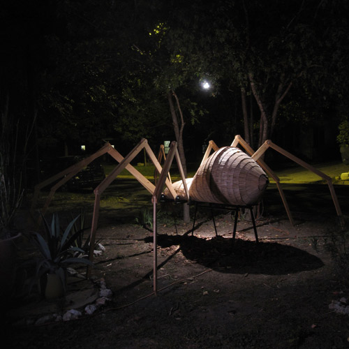16 foot Halloween Popsicle stick Spider